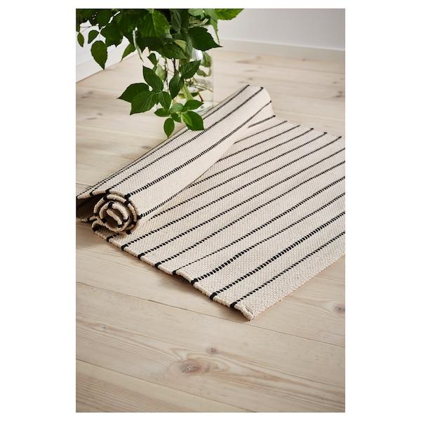 "TÖRSLEV Rug, flatwoven, stripe white/black, 2 ' 7 ""x4 ' 11 """