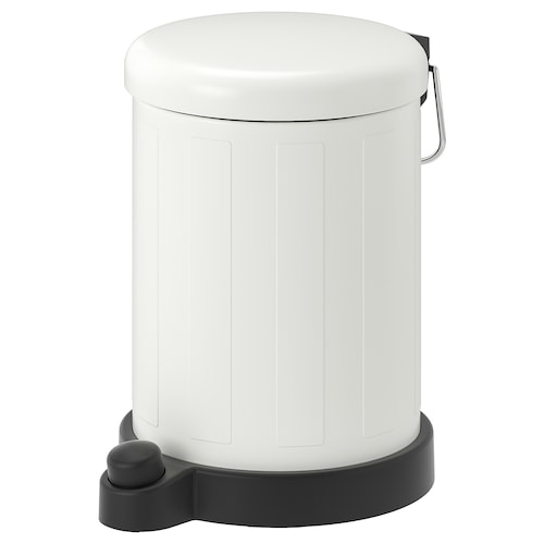 "TOFTAN trash can white 10 5/8 "" 7 1/2 "" 1 gallon"