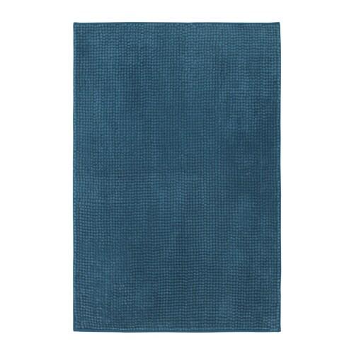 TOFTBO Bath mat, green-blue