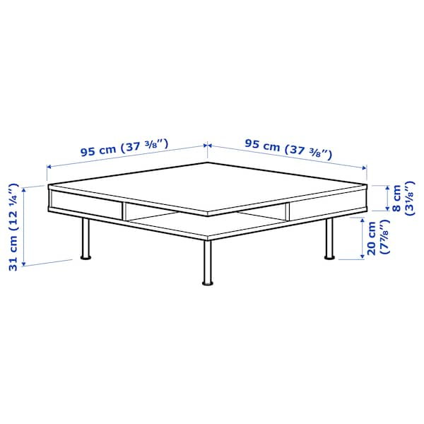 """TOFTERYD Coffee table, high gloss white, 37 3/8x37 3/8 """""""
