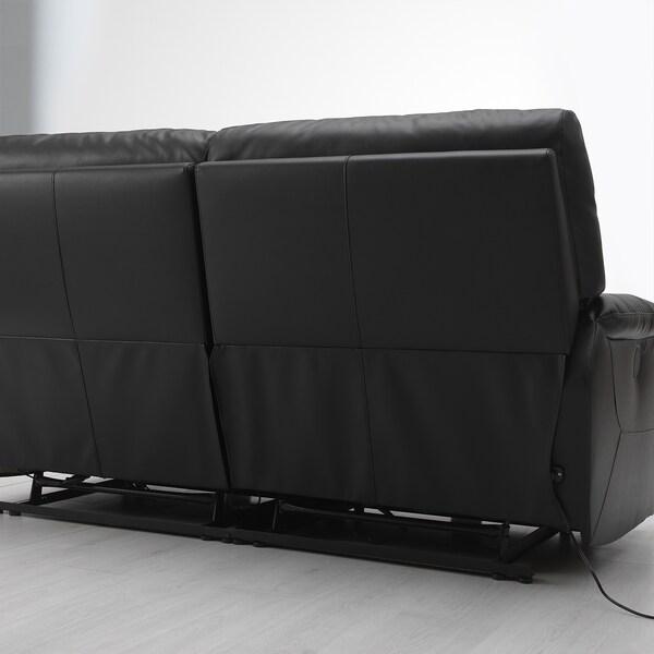 """TOMBÄCK sofa with adjustable seat/back Kimstad black 72 7/8 """" 40 1/8 """" 38 5/8 """" 54 3/8 """" 22 7/8 """" 18 7/8 """""""