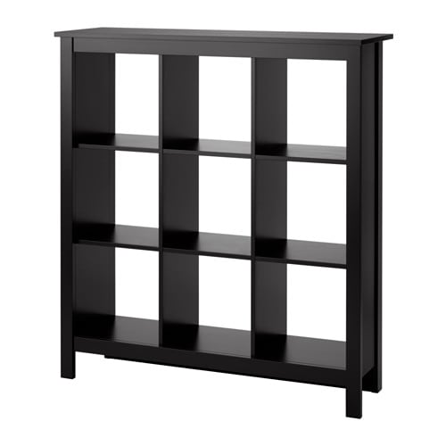 Tomn s shelf unit black brown ikea for Ikea box shelf unit