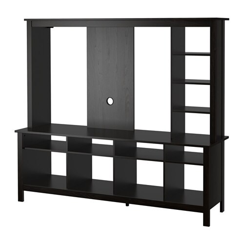 Tomn s tv storage unit black brown ikea - Meuble tv industriel ikea ...