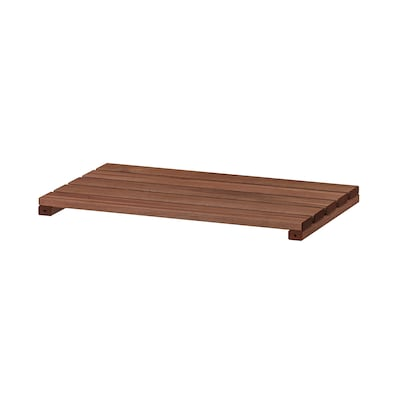 TORDH Shelf, outdoor, brown stained, 19 5/8x12 5/8 ""