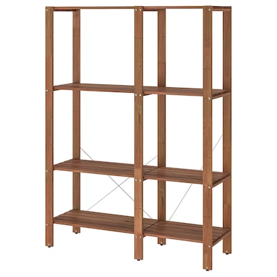 TORDH Shelving unit, outdoor, brown stained, 47 1/4x13 3/4x63 3/8 ""