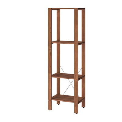 TORDH Shelving unit, outdoor, brown stained, 19 5/8x13 3/4x63 3/8 ""