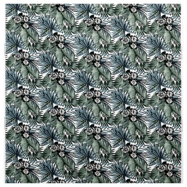 "TORGERD Fabric, white/green, 59 """