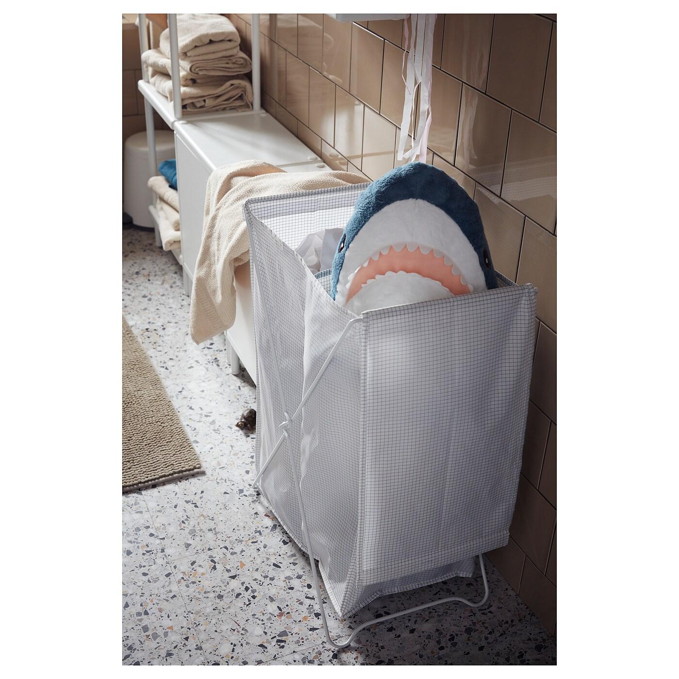 Torkis Laundry Basket White Gray Ikea