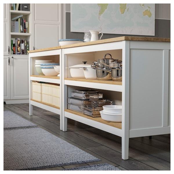 Ikea Ilot Cuisine: TORNVIKEN Kitchen Island, Off-white, Oak, Length: 49 5/8