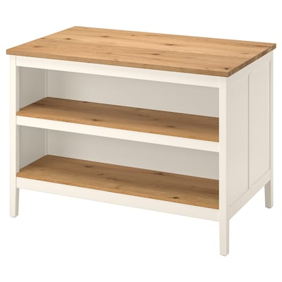 TORNVIKEN Kitchen island, off-white/oak, 49 5/8x30 3/8 ""