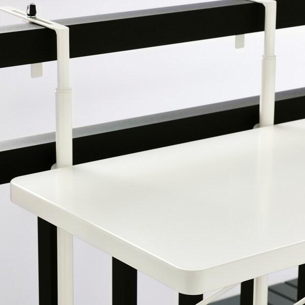 "TORPARÖ Balcony table, white, 19 5/8 """