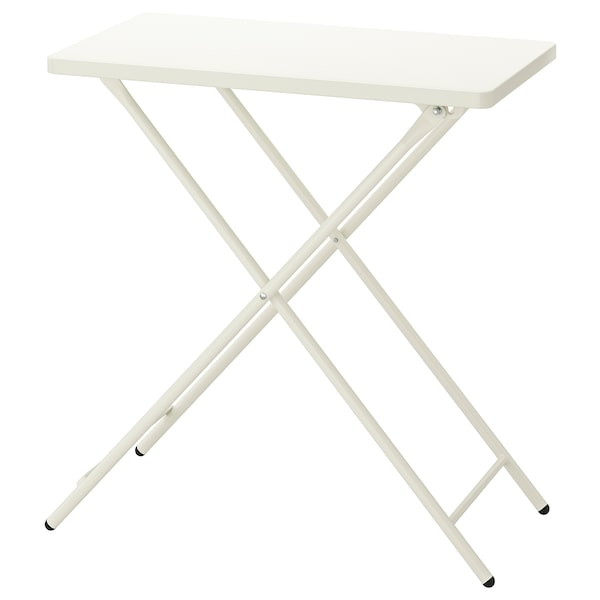 """TORPARÖ Table, indoor/outdoor, white/foldable, 27 1/2x16 1/2 """""""