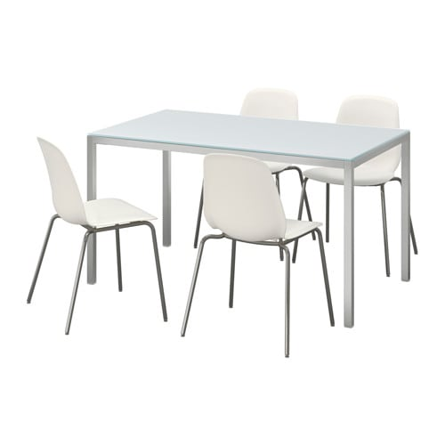 Torsby leifarne table and 4 chairs ikea - Chaise blanche et grise ...