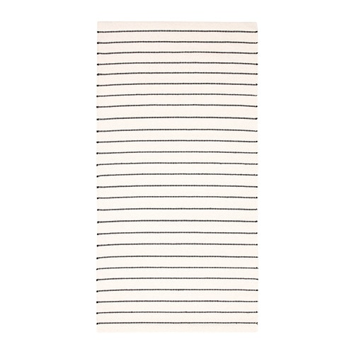 TÖrslev Rug Flatwoven Stripe White Black