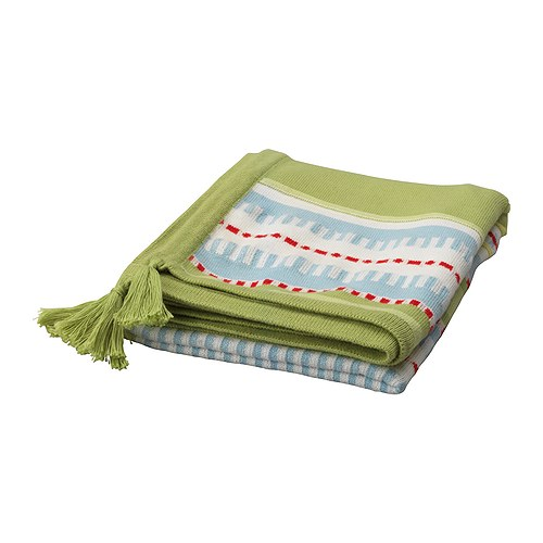 TORVA Baby blanket IKEA Soft against baby's skin.  Embroidered motifs.
