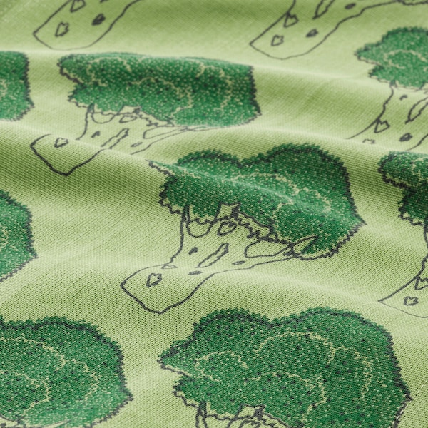 """TORVFLY Dish towel, patterned/green, 12x16 """""""
