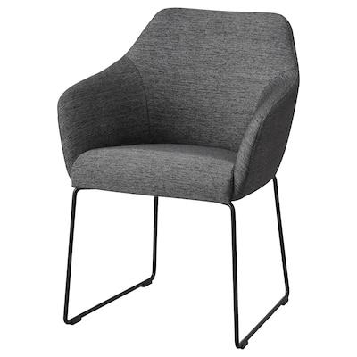 "TOSSBERG chair metal black/gray 220 lb 23 5/8 "" 22 "" 32 1/4 "" 16 1/2 "" 15 3/4 "" 19 1/4 """