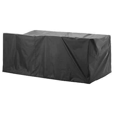 TOSTERÖ Cover for outdoor furniture, dining set/black, 102 3/8x58 1/4 ""