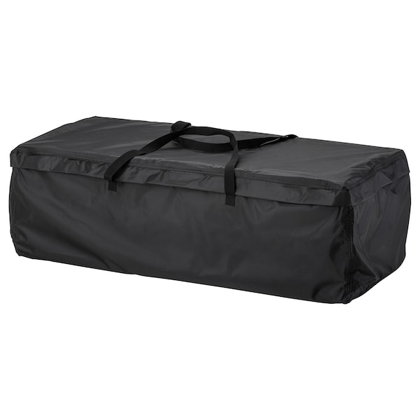 TOSTERÖ Storage bag for pads and cushions, black, 45 5/8x19 1/4 ""