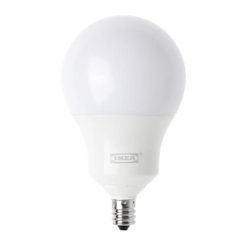 trdfri led bulb e12 400 lumen ikea equal to a 35watt bulb - E12 Led Bulb