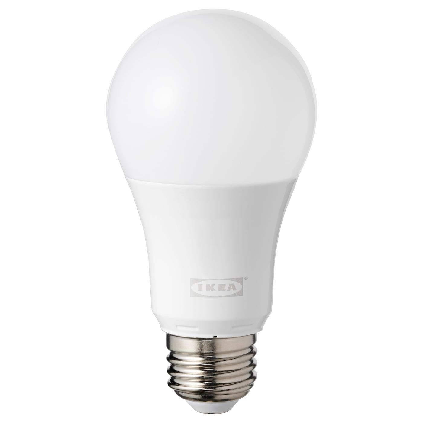 Tradfri Led Bulb E26 600 Lumen Wireless Dimmable Color And White Spectrum Color And White Spectrum Globe Opal Ikea
