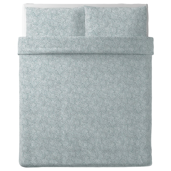 "TRÄDKRASSULA duvet cover and pillowcase(s) white/blue 100 /inch² 2 pack 86 "" 86 "" 20 "" 30 """