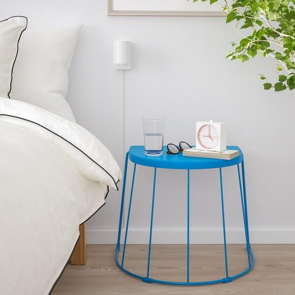 """TRANARÖ Stool/side table, in/outdoor, blue, 22x16 1/8x16 7/8 """""""