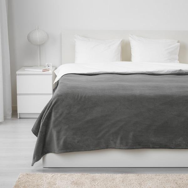 "TRATTVIVA Bedspread, gray, 91x98 """