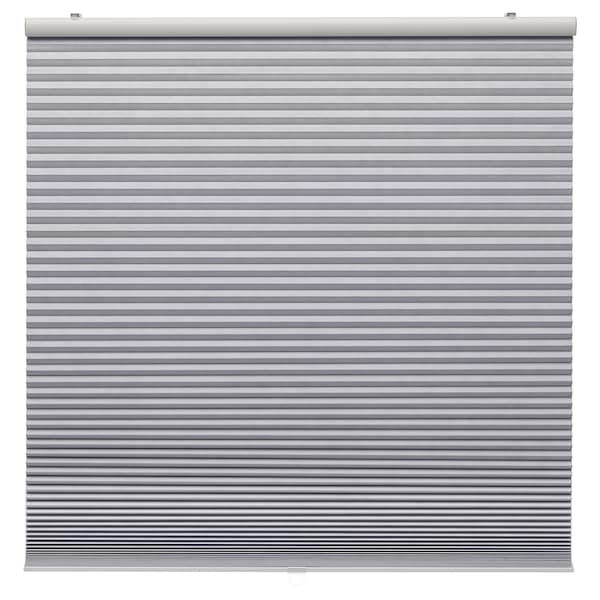 "TRIPPEVALS Black-out cellular blind, light gray, 34x76 ¾ """