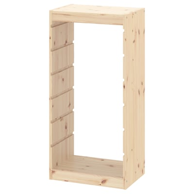 TROFAST Frame, light white stained pine, 17 3/8x35 7/8 ""