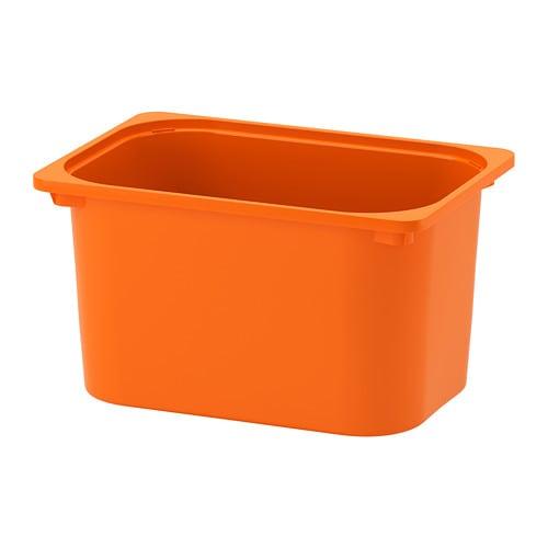 TROFAST Storage box, orange orange 16 1/2x11 3/4x9