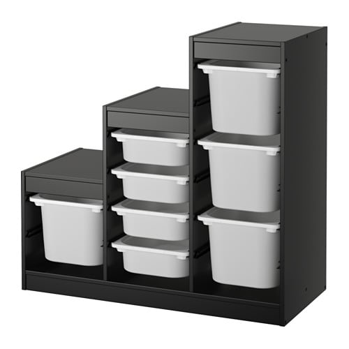 Trofast storage combination ikea for Meuble cube modulable