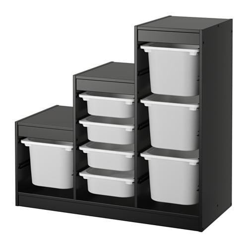 Trofast storage combination ikea - Meuble de rangement avec bac ...