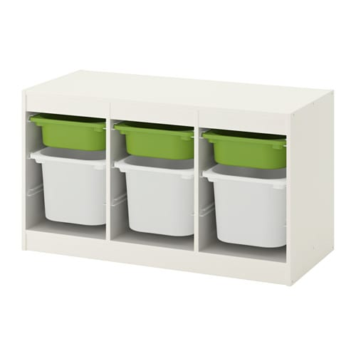 Trofast Ikea trofast storage combination with boxes white green 39x17 3 8x22