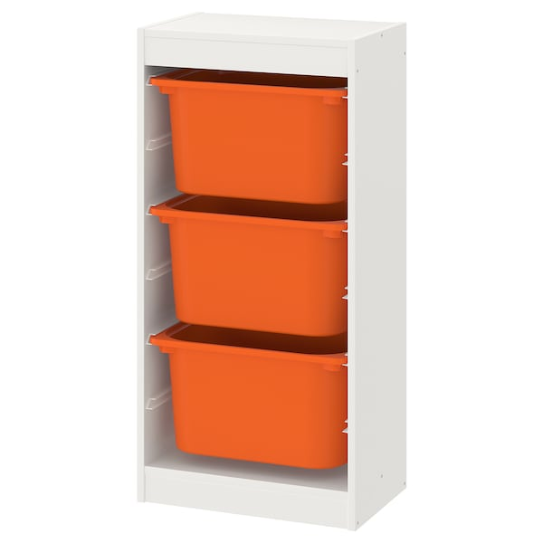 Storage Combination With Bo Trofast White Orange