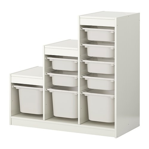 Trofast storage combination with boxes ikea - Rangement plastique tiroir ikea ...