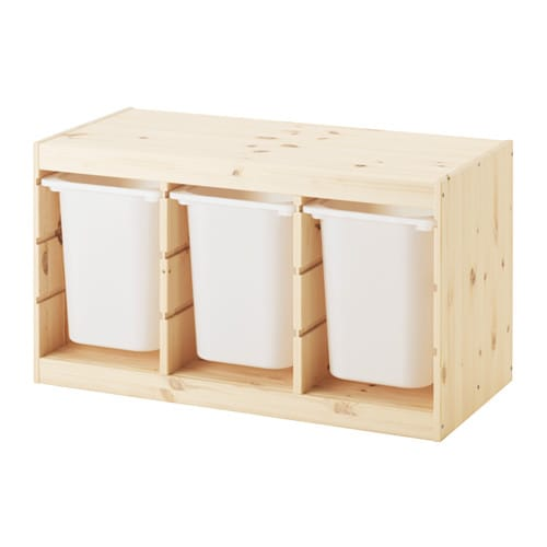 Trofast storage combination with boxes ikea - Toy shelves ikea ...