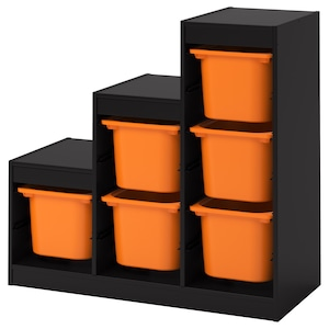 Color: Black/orange.