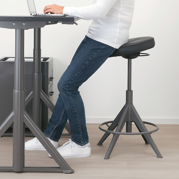 """TROLLBERGET sit/stand support Glose black 243 lb 15 3/8 """" 26 """" 31 1/2 """" 15 3/8 """" 15 3/8 """" 26 """" 31 1/2 """""""