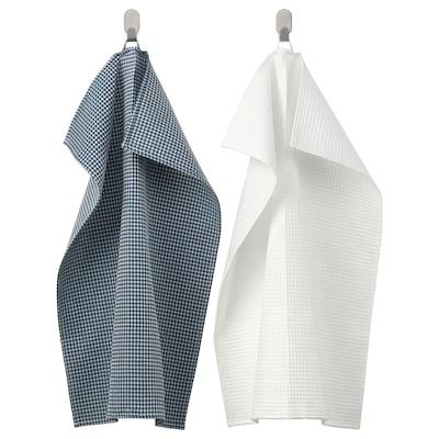 "TROLLPIL Dish towel, white/blue, 20x28 """