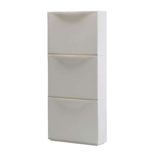 Trones shoe storage cabinet white ikea for Meuble chaussure ikea
