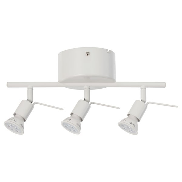 TROSS Ceiling track, 3 spotlights, white