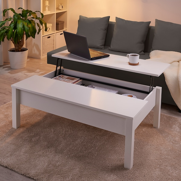 TRULSTORP Coffee table, white, 45 1/4x27 1/2 ""