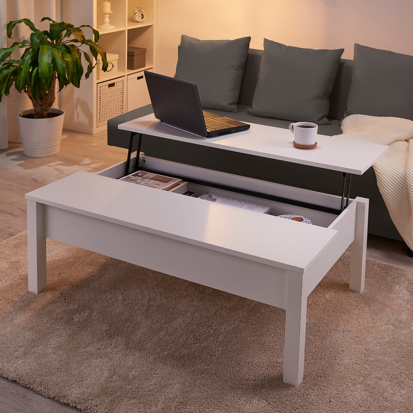 - TRULSTORP Coffee Table, White, 45 1/4x27 1/2