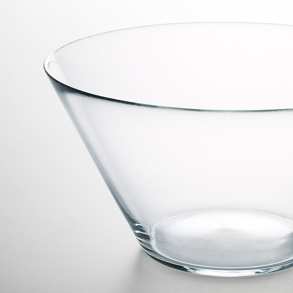 """TRYGG Serving bowl, clear glass, 11 """""""