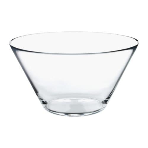 TRYGG Serving bowl, clear glass