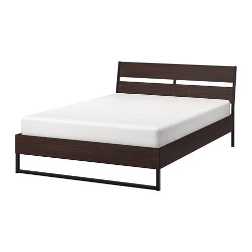 Full Bed Frame.Trysil Bed Frame Dark Brown Lonset