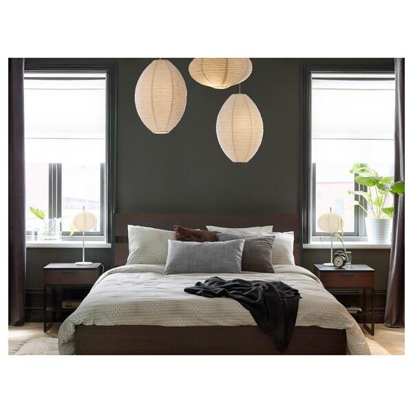 "TRYSIL bed frame dark brown/black 86 5/8 "" 61 3/4 "" 15 3/4 "" 38 5/8 "" 79 1/2 "" 59 7/8 """