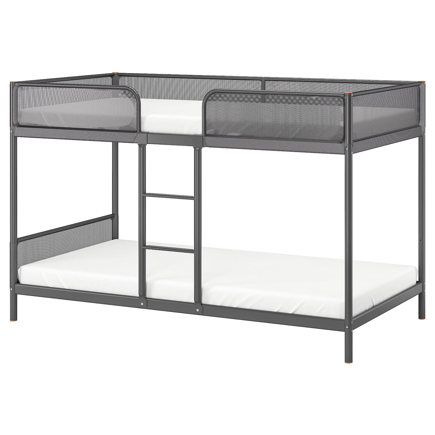 Tuffing Bunk Bed Frame Dark Gray Twin