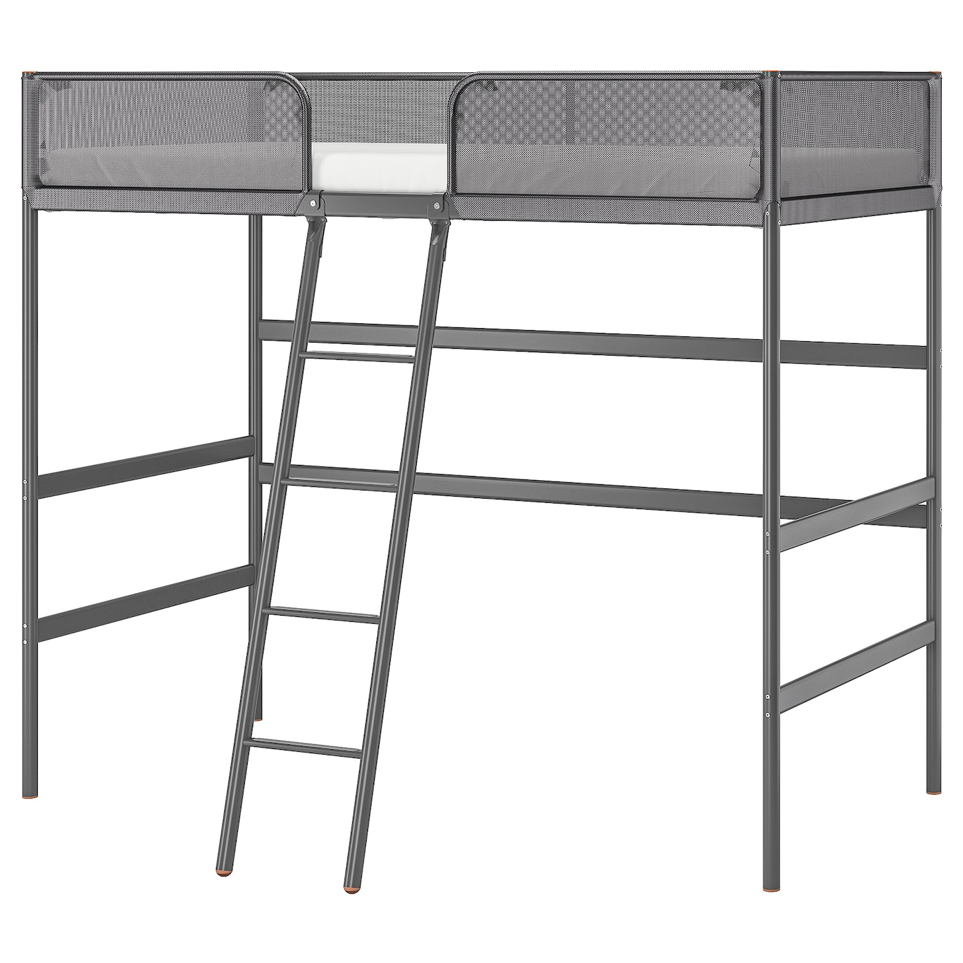 Picture of: Tuffing Loft Bed Frame Dark Gray Twin Ikea